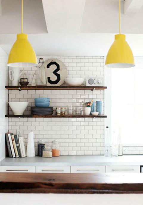รวม 12 มุมแบบห้องครัวสีสัน