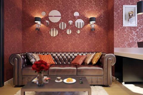 ห้องนั่งเล่น แบบห้องนั่งเล่น รวมห้องนั่งเล่นสีแดงสุดสวยไม่ต้องบอกใคร