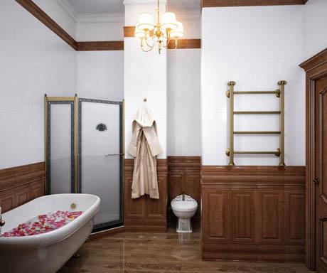 ห้องน้ำ ออกแบบห้องน้ำเรียบง่าย สุดคลาสสิค
