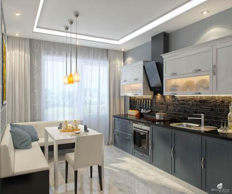แบบห้องครัว สวยหรูในโทนสีเทาสบายตา