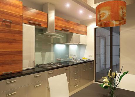 แบบห้องครัว ขนาดเล็กๆแต่ตกแต่งได้สวยงาม