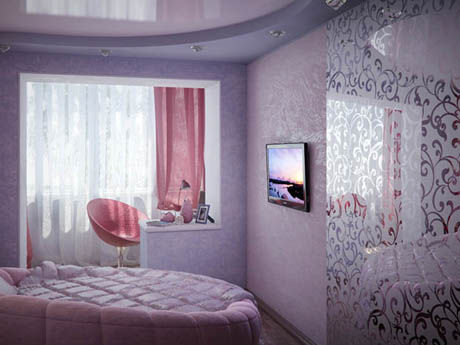 ห้องนอน สีชมพู หวาน ๆ