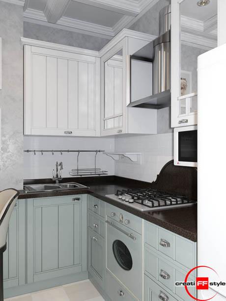 แบบห้องครัวสวยขนาดเล็กแต่น่าใช้งาน