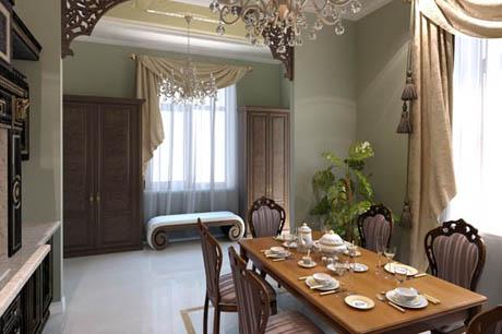 แบบห้องครัวสวยแบบสไตล์คลาสสิค