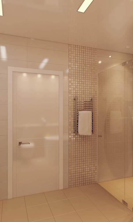 ห้องน้ำ สีน้ำตาลอันแสนอบอุ่น