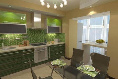 แบบห้องครัว สีสันสดใสด้วยกระเบื้องโมเสค