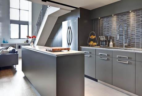 แบบห้องครัว ดีไซน์ที่สวยหรูหนึ่งห้องในสองมุม