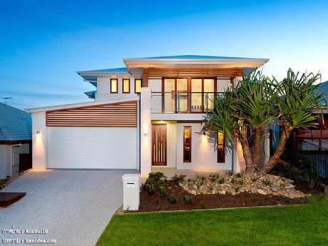 แบบบ้านสองชั้น บ้านและสวน สวยงาม