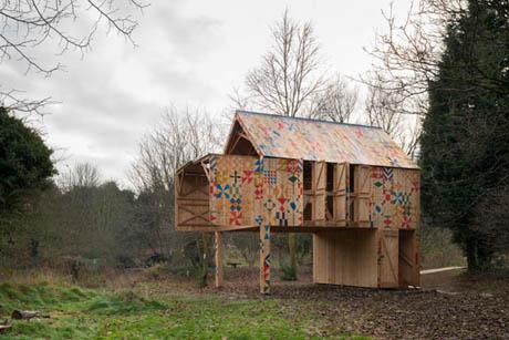 แบบบ้านไม้ รีไซเคิล