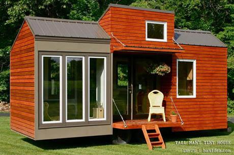 แบบบ้านชั้นเดียว บ้านไม้ สีส้ม