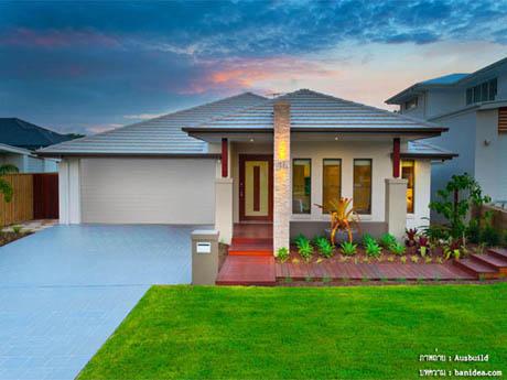 แบบบ้านชั้นเดียว สีบ้านหวานสวย อบอุ่น