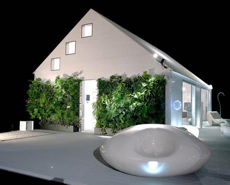 แบบบ้านไม้ ตัวบ้านสีขาว ดีไซน์ไม่เหมือนใคร