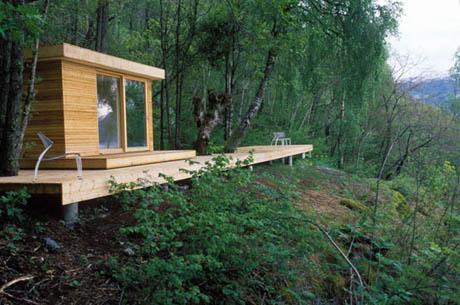 แบบบ้านไม้ บ้านเล็ก ท่ามกลางธรรมชาติ