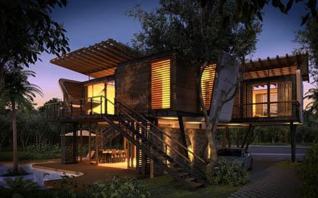 แบบบ้านไม้ รีสอร์ท ธรรมชาติ