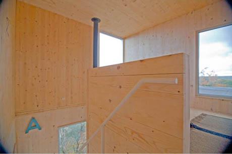 แบบบ้านไม้ 2 ชั้น ยกพื้น สไตล์โมเดิร์น